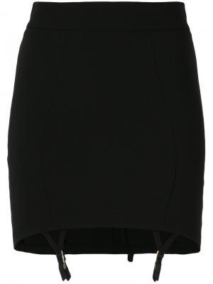 Юбка с подвязками Murmur. Цвет: чёрный