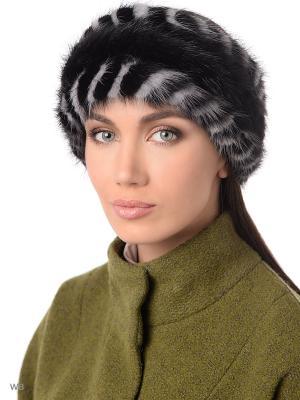 Повязка на голову Ваша Шляпка. Цвет: черный, светло-серый