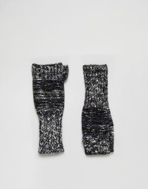 Eugenia Kim Темно-синие перчатки без пальцев Genie by Stef. Цвет: темно-синий