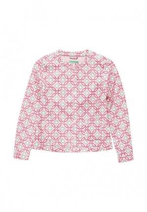 Куртка кожаная United Colors of Benetton. Цвет: розовый