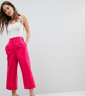 ASOS Petite Удлиненные кюлоты Tailored. Цвет: розовый