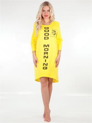Ночная сорочка LORICCI. Цвет: желтый