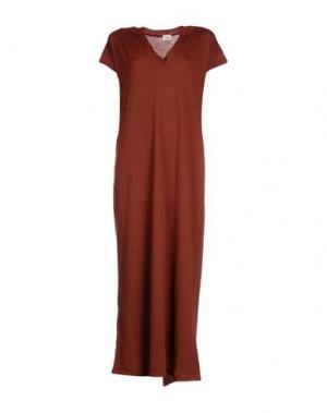 Длинное платье SIYU. Цвет: какао