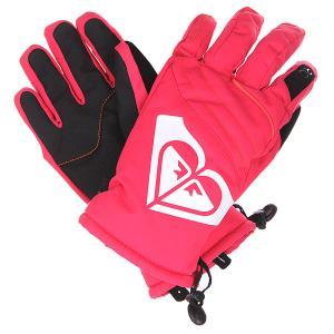 Перчатки сноубордические женские  Popi Gloves Azalea Roxy. Цвет: розовый