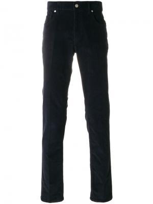 Прямые брюки Z Zegna. Цвет: синий