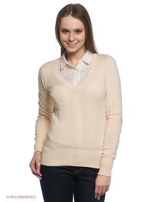 Пуловер Baon. Цвет: светло-бежевый