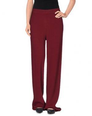 Повседневные брюки PINK MEMORIES. Цвет: красно-коричневый