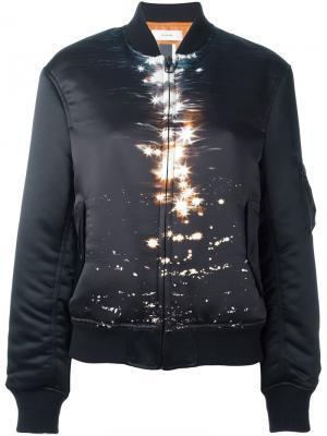 Printed front bomber jacket Facetasm. Цвет: чёрный