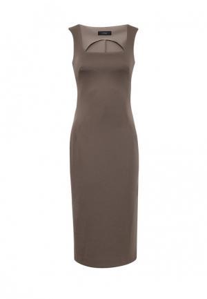 Платье 9AConcept. Цвет: коричневый