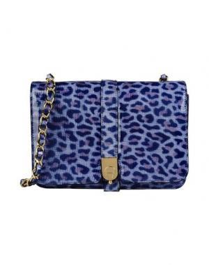 Большая кожаная сумка AIGNER. Цвет: пастельно-синий