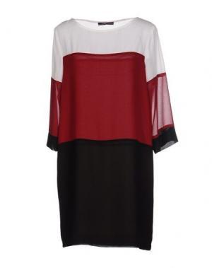 Короткое платье MY SIS. Цвет: красно-коричневый