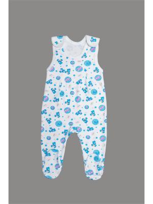 Ползунки ORANGE BABY. Цвет: белый, синий