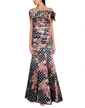 Длинное платье IVAN MONTESI. Цвет: стальной серый