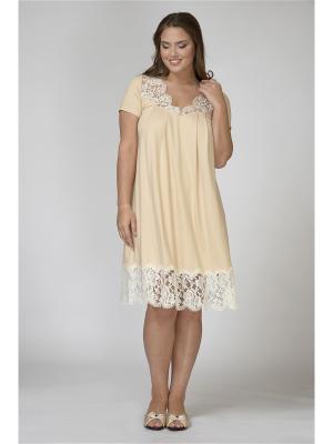 Ночная сорочка Petit Pas. Цвет: бежевый