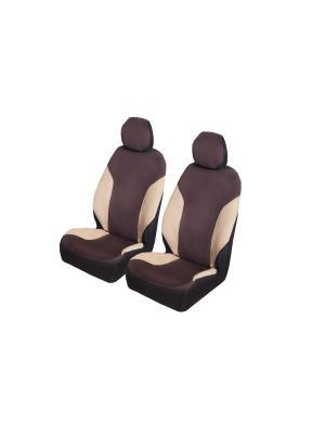 Накидки на передние сиденья AvtoTink. Цвет: коричневый, бежевый