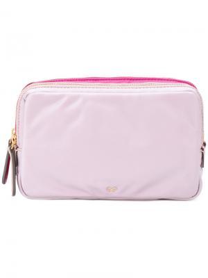 Косметичка Stack Triple Anya Hindmarch. Цвет: розовый и фиолетовый