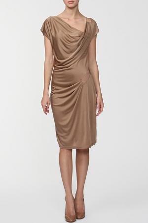 Платье Marly's. Цвет: бежевый