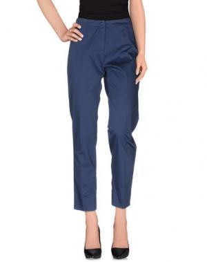 Повседневные брюки IRMA BIGNAMI. Цвет: грифельно-синий