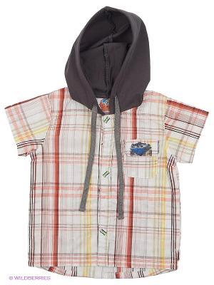 Рубашка TOM and JERRY. Цвет: бежевый, темно-коричневый