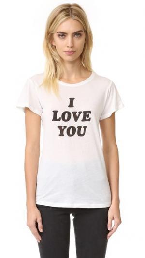 Футболка с надписью «I Love You Sometimes» A Fine Line. Цвет: белый