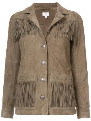 Куртка с бахромой Ag Jeans. Цвет: коричневый