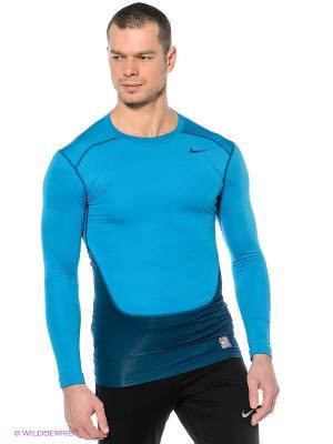 Термобелье HYPERWARM LITE COMP CREW Nike. Цвет: голубой