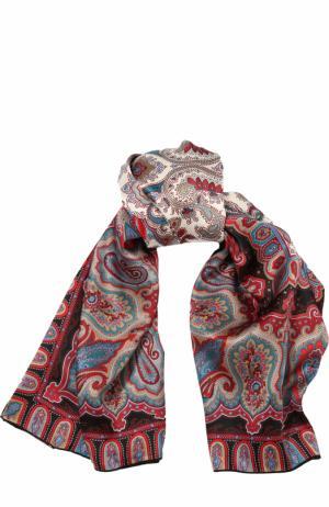 Шелковый платок с принтом Michele Binda. Цвет: черный