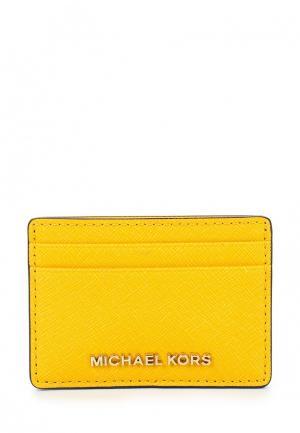 Визитница Michael Kors. Цвет: желтый