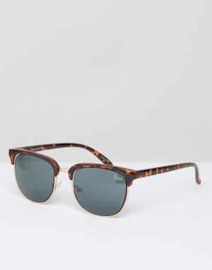 Quay Eyewear Черепаховые солнцезащитные очки в стиле ретро Australia Flint. Цвет: коричневый