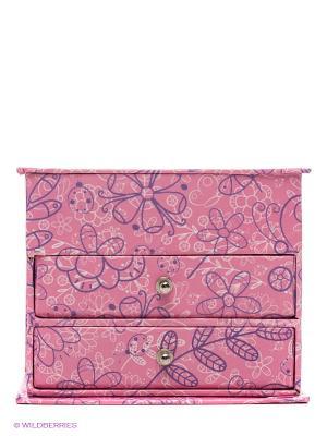 Шкатулка для украшений Lisa Jane. Цвет: розовый