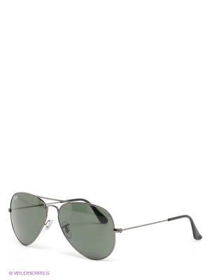 Очки солнцезащитные AVIATOR LARGE METAL Ray Ban. Цвет: темно-зеленый, серебристый, черный