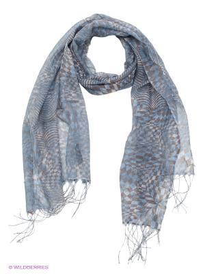 Шарф HAMAKI-HO. Цвет: серый, голубой