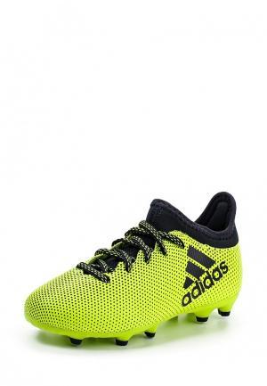 Бутсы adidas Performance. Цвет: желтый