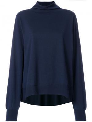 Расклешенный свитер-водолазка Wunderkind. Цвет: синий