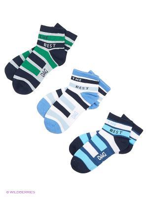 Носки DAG. Цвет: бирюзовый, голубой, зеленый