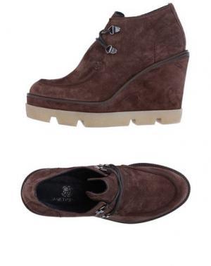 Обувь на шнурках JANET SPORT. Цвет: темно-коричневый