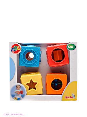 Развивающие кубики Simba. Цвет: красный, желтый