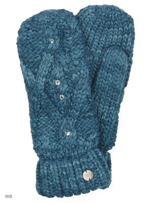 Варежки ROXY. Цвет: морская волна, синий