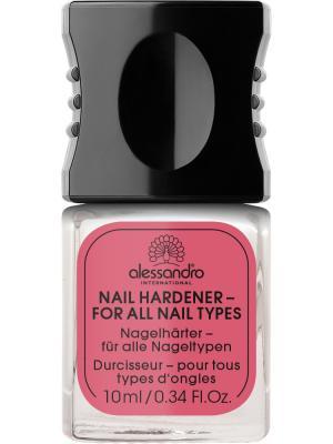 Средство для укрепления всех типов ногтей Nail hardener alessandro. Цвет: молочный
