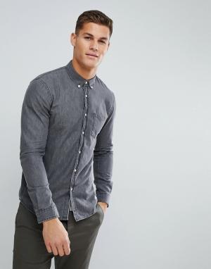 Tom Tailor Серая джинсовая рубашка. Цвет: серый