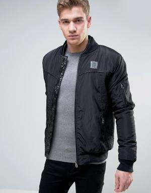 Born Rich Куртка с отделкой искусственной кожей. Цвет: черный