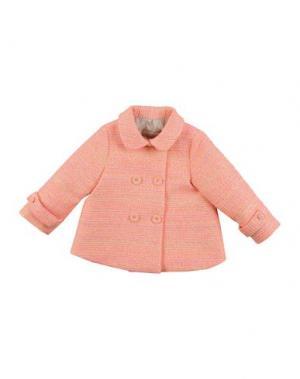 Пальто LA STUPENDERIA. Цвет: оранжевый