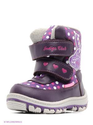 Полусапожки Indigo kids. Цвет: фиолетовый