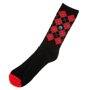 Носки средние  Igyle High Cut Argyle Socks Black Osiris. Цвет: черный,красный