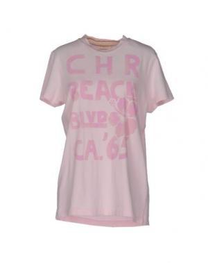 Футболка CHARAPA. Цвет: розовый