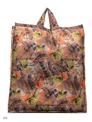 Сумка хозяйственная болоньевая Римейн. Цвет: коричневый, желтый, оранжевый