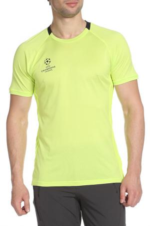 Футболка спортивная adidas. Цвет: желтый, черный