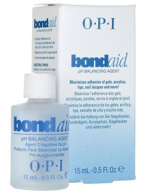 Средство для ногтей Bond-Aid, восстанавливающее pH-баланс, 15 мл OPI. Цвет: прозрачный