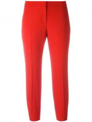 Укороченные классические брюки Alexander McQueen. Цвет: красный