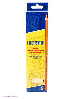 Набор карандашей СКФ. Цвет: желтый